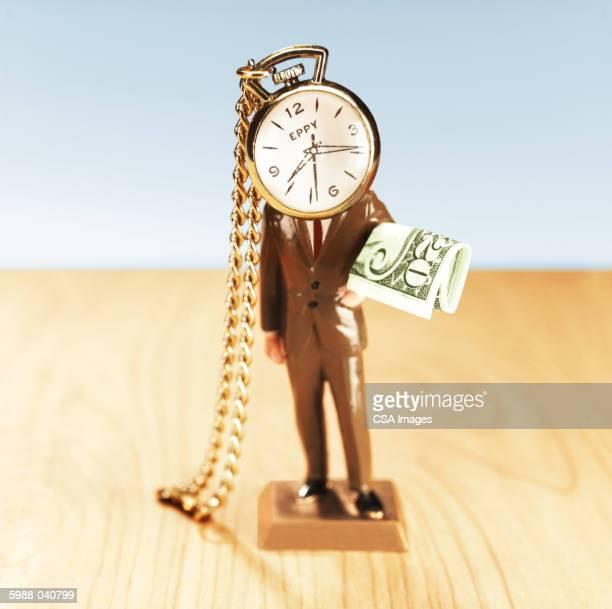 Watch-Headed Businessman