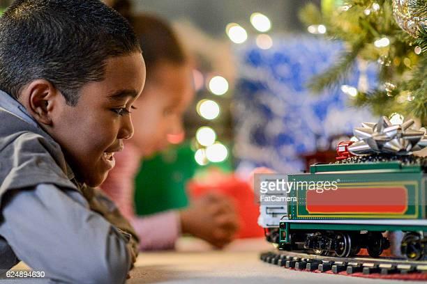 Watching a Christmas Train