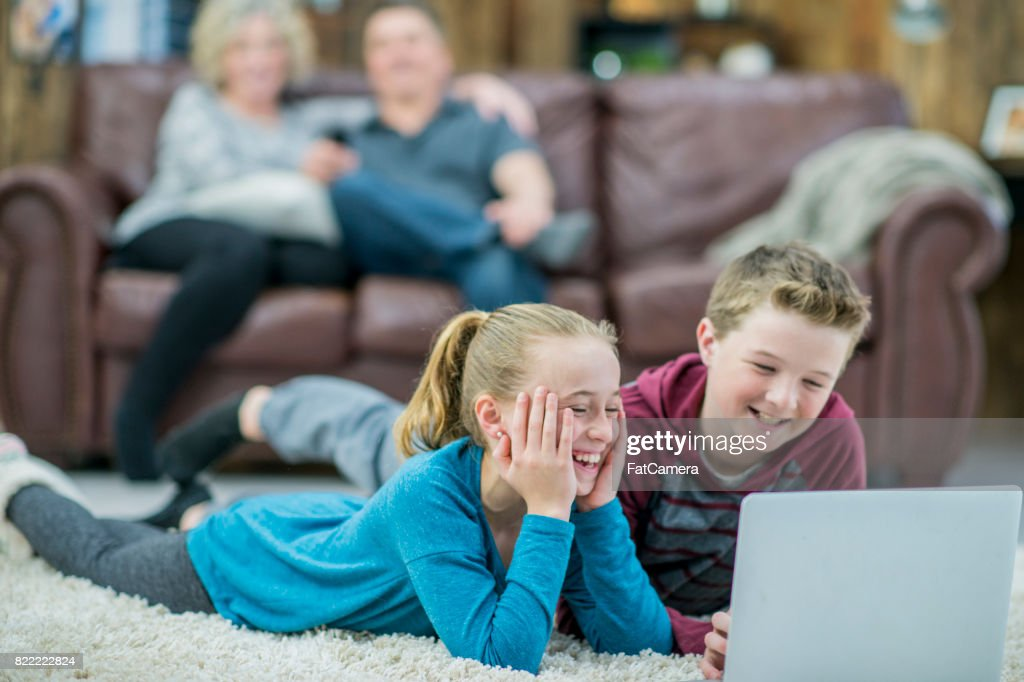 Watching A Movie : Stock Photo