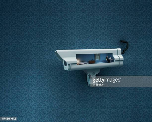 CCTV watching a young man in his bedroom