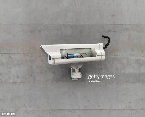 cctv watching an accident - car crash wall stock pictures, royalty-free photos & images