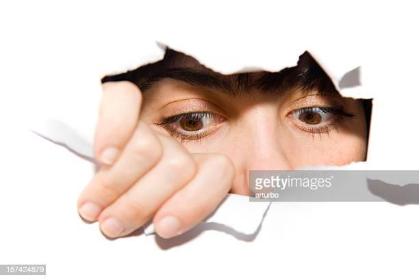 watching eyes looking downwards