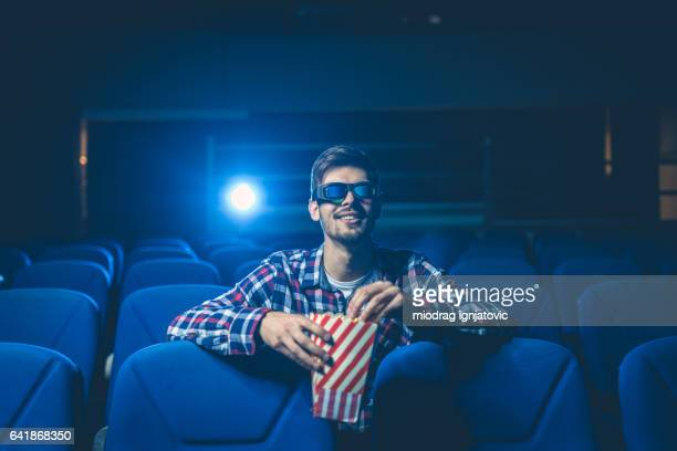 Watching funny movie