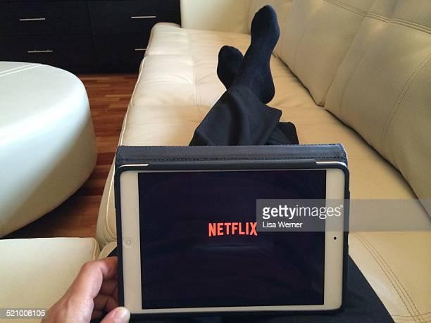 Watching Netflix on an iPad