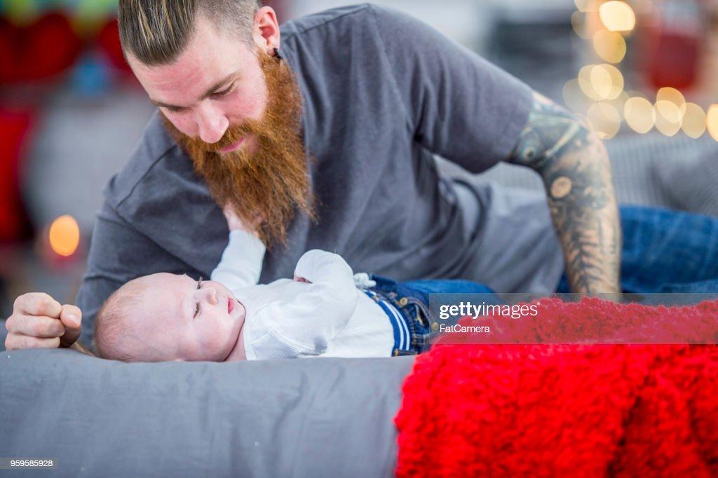 Über Baby wacht : Stock-Foto