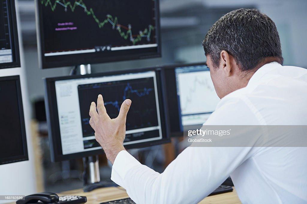 Watching profits drop! : Stock Photo