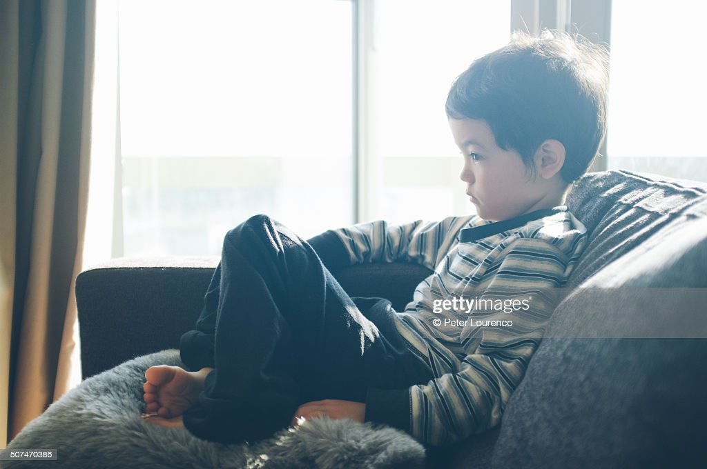 Watching tablet PC : Stock Photo
