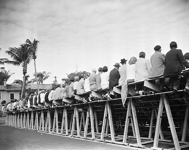 Watching tennis at the Everglades Club in Palm Beach, Florida, February, 17, 1938