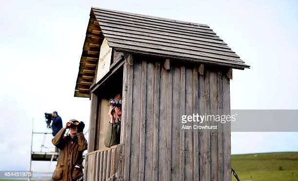 Watching the action during the point to point meeting at Barbury Castle racecourse on December 08 2013 in Swindon England