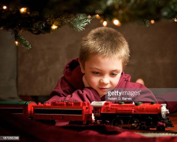 Watching the Christmas Tree Train