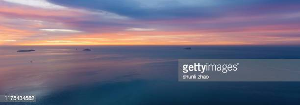 watching the sea in high altitude - liaoning province stock pictures, royalty-free photos & images