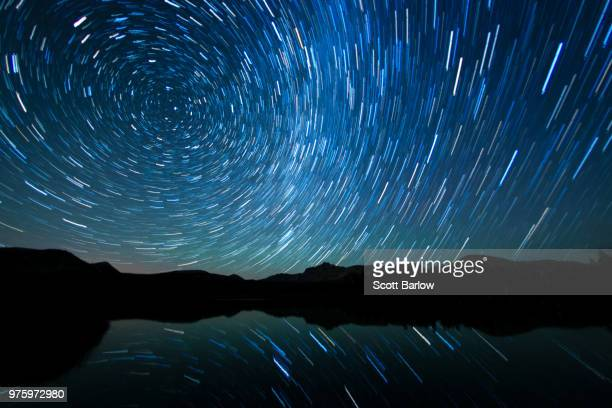 watching the stars go around - north star stock pictures, royalty-free photos & images