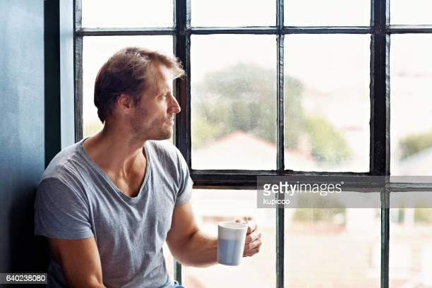 Watching the world go by over coffee