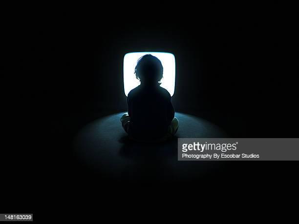 Watching TV in dark