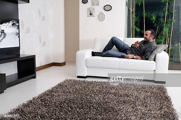 Watching tv..