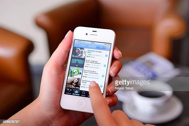 Sehen Sie sich videos auf iPhone