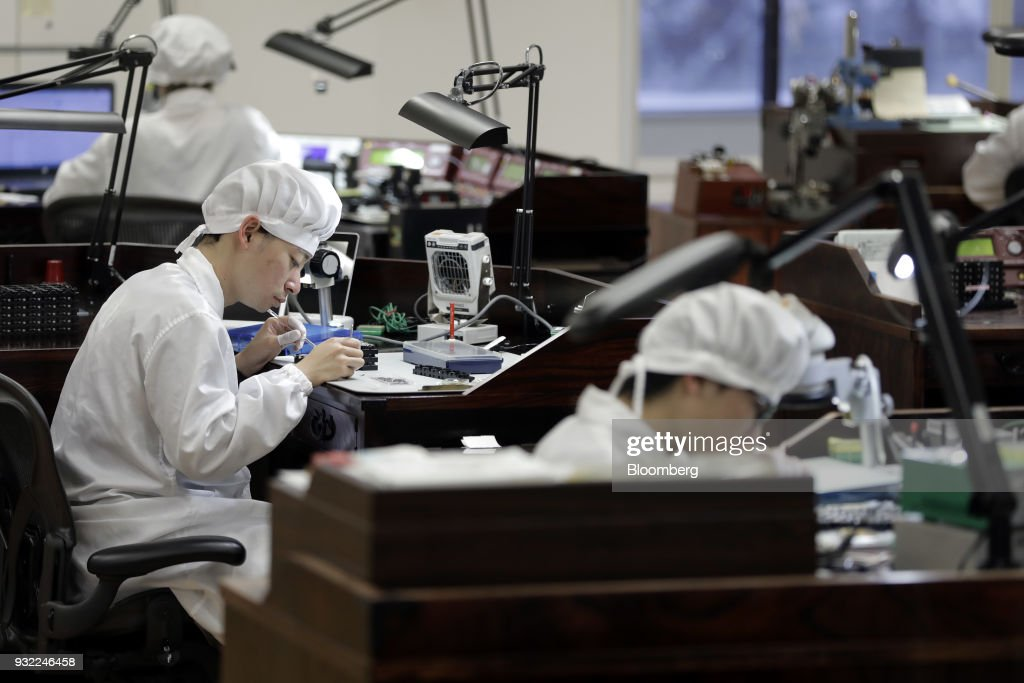 Inside Seiko Watch Factory As Japanese Watchmakers Boost High-end Segment : News Photo