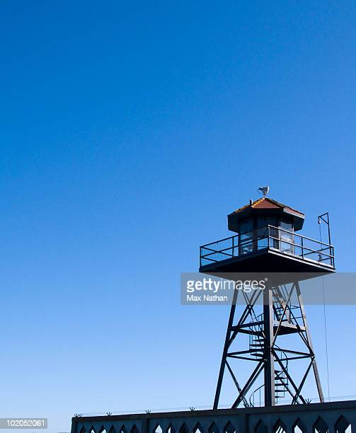 watchtower, alcatraz, san francisco - tower stock pictures, royalty-free photos & images