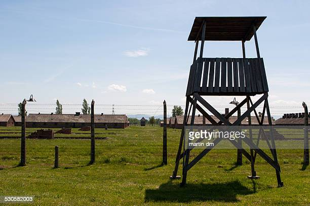 Watchtower of Auschwitz camp in Poland