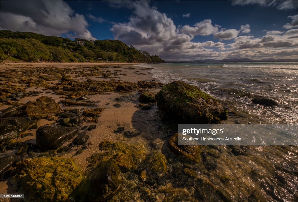 Wategos beach and coastline at Byron Bay, New south Wales, Australia. : Stock-Foto