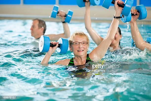 Wassergymnastik-Gruppe