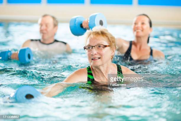 Water aerobics group