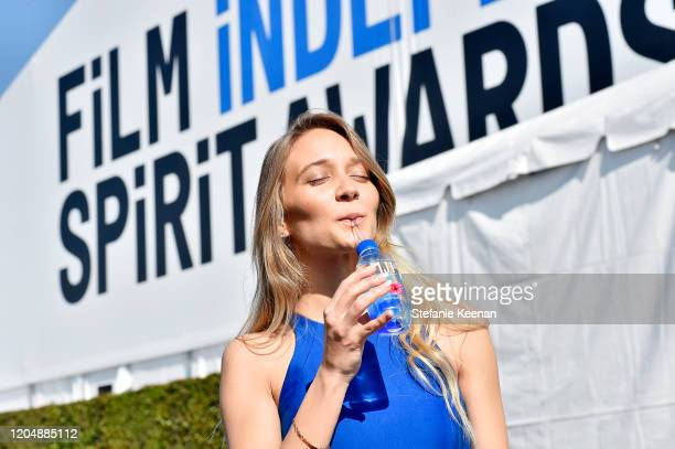 Water and JNSQ at The 2020 Film Independent Spirit Awards on February 08, 2020 in Santa Monica, California.
