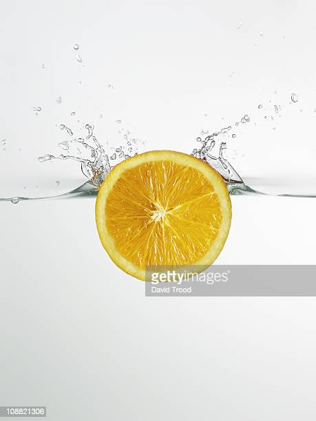 water and orange slice
