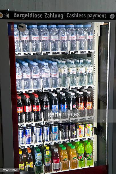 Water and Soft Drinks in a Vending Machine