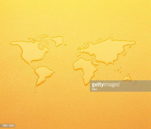 Water Art, World Map, Close Up