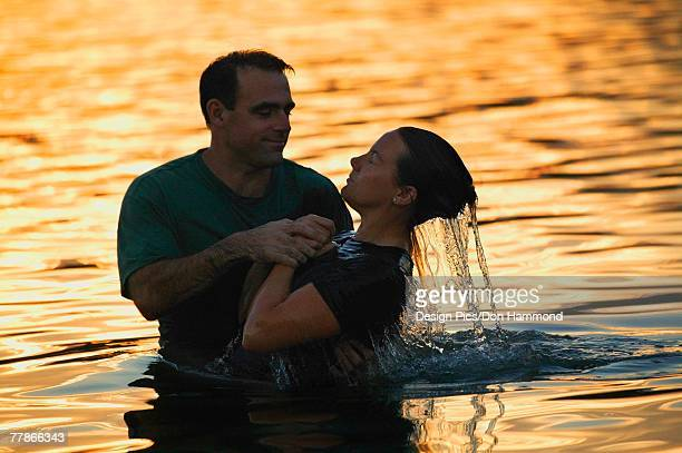 A water baptism