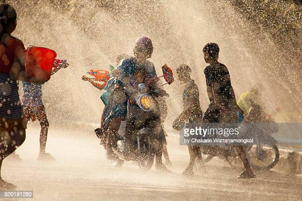 Water Battle (Songkran Festival in Chanthaburi)