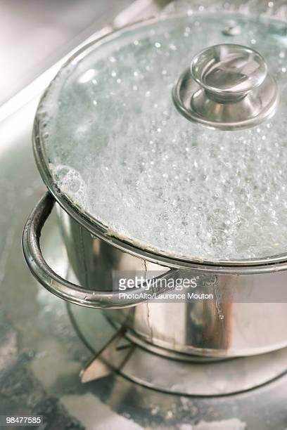 Water boiling in pot