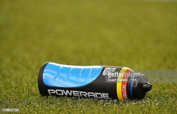 93f0cff3b0 A water bottle from the team of Germany is seen during the quarter final  match of