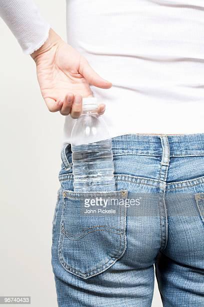 water bottle in back pocket