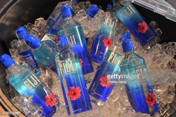Water bottles are on display during FIJI Water at SHAPE Body Shop 2019 at Hudson Loft on June 15, 2019 in Los Angeles, California.