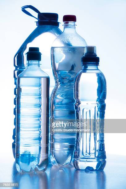 Water bottles, close-up