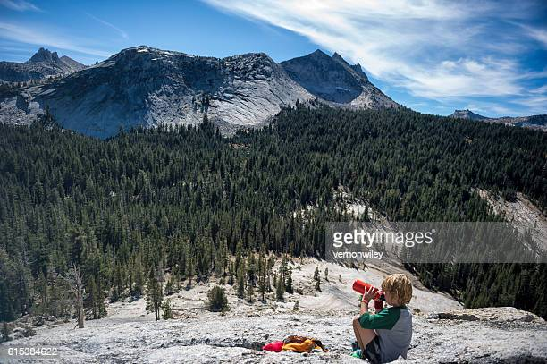 Water break for Child, Yosemite