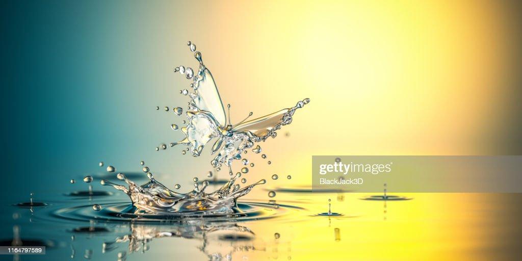 Wasser Schmetterling. Die Geburt des Lebens : Stock-Foto