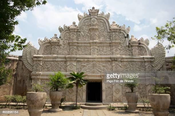 water castle (taman sari) - gapura agung -yogyakarta - java - indonesia - yogyakarta stock photos and pictures