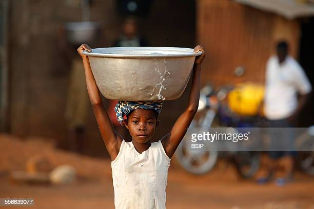 Water Chore In An African Village