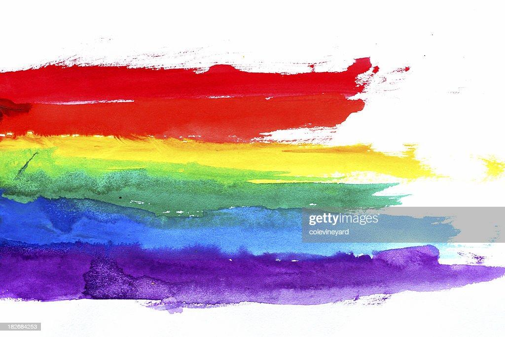Water Colored Rainbow : Stock Photo