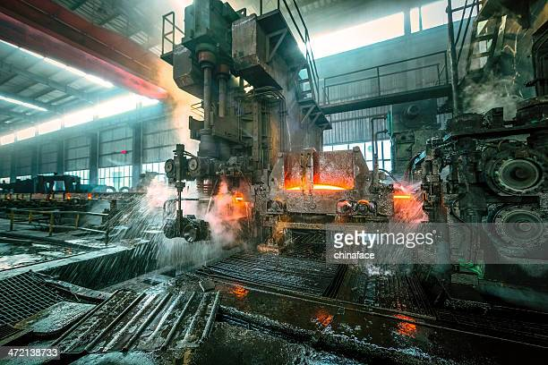 water cooling of roling mill line - steelmaking stock photos and pictures