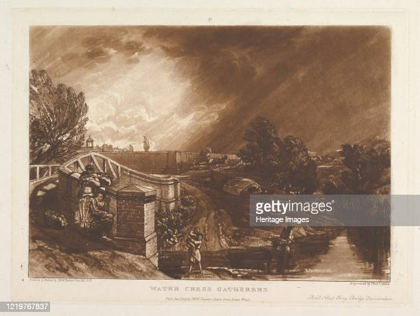 Water Cress Gatherers Rails Head Ferry Bridge Twickenham January 1 1819 Artist JMW Turner