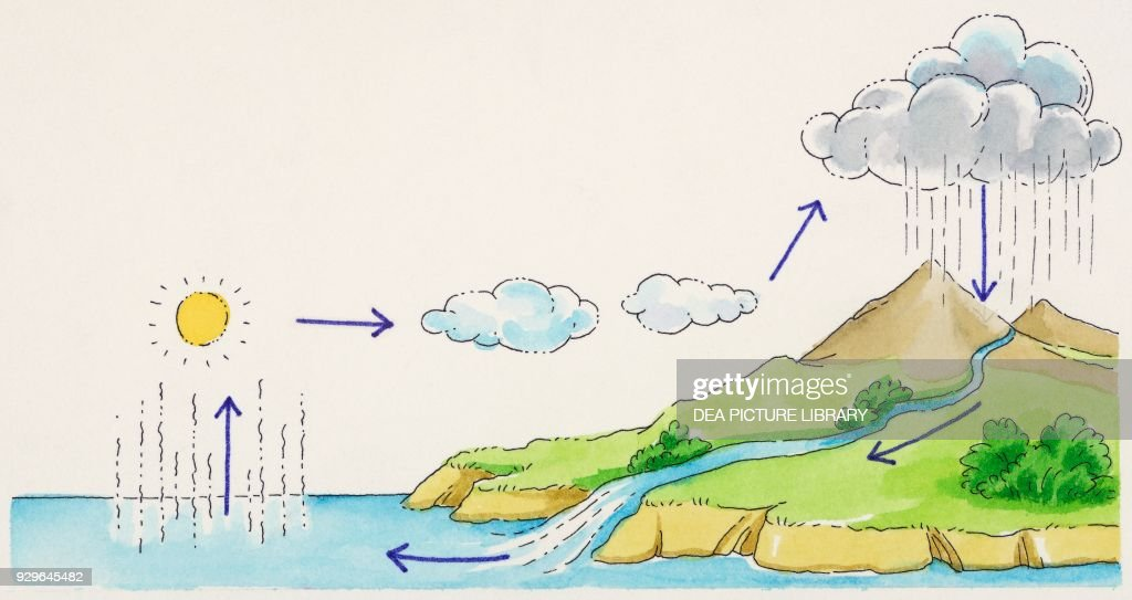 Water Cycle Diagram Drawing News Photo Getty Images