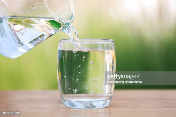 water, drinking water, glass - drinking glass stock pictures, royalty-free photos & images