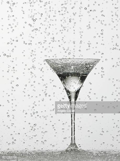 Water dripping in glass