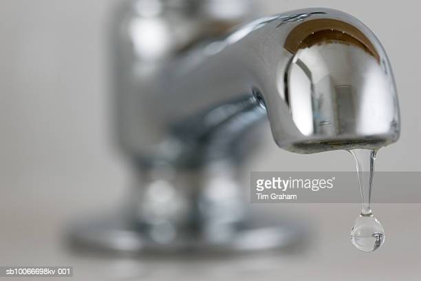 Water Drips From Domestic Tap, UK