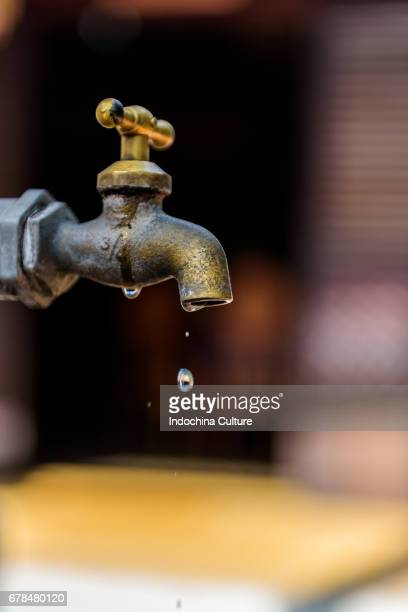 Water drop from tap