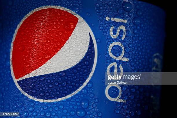 Water droplets cling to a bottle of Pepsi that sits in a cooler of a food truck on June 10 2015 in San Francisco California The San Francisco board...